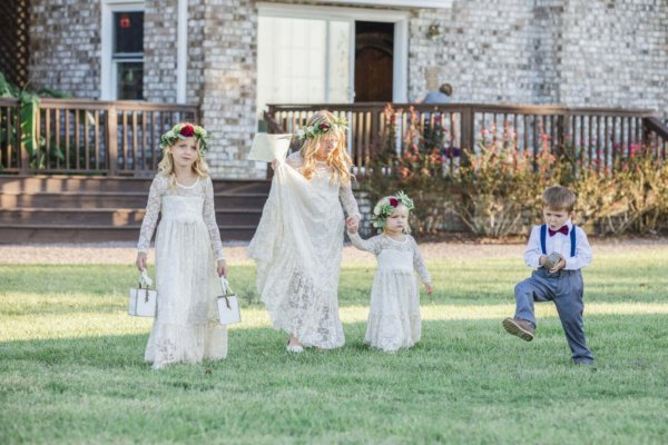 Charleston wedding photo kids are dresses and suits