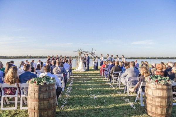 photo wedding Charleston ceremony near lake