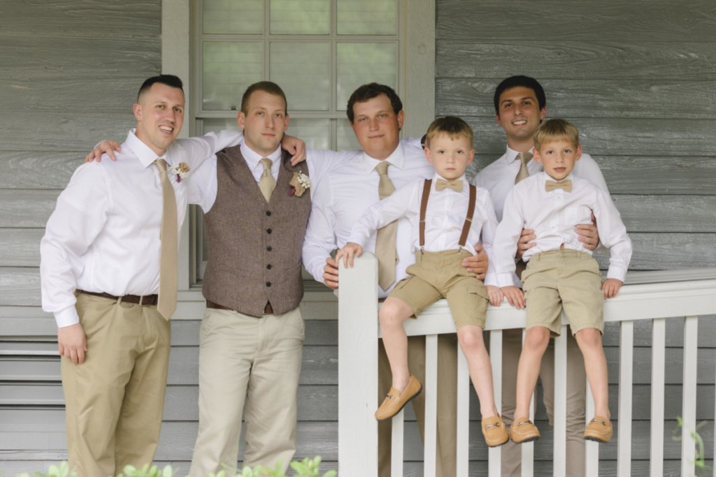 all male memebers of the wedding