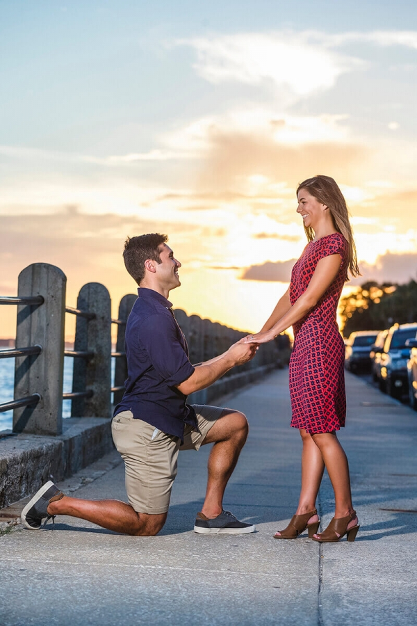 Engagementphotocharlestonproposebridge